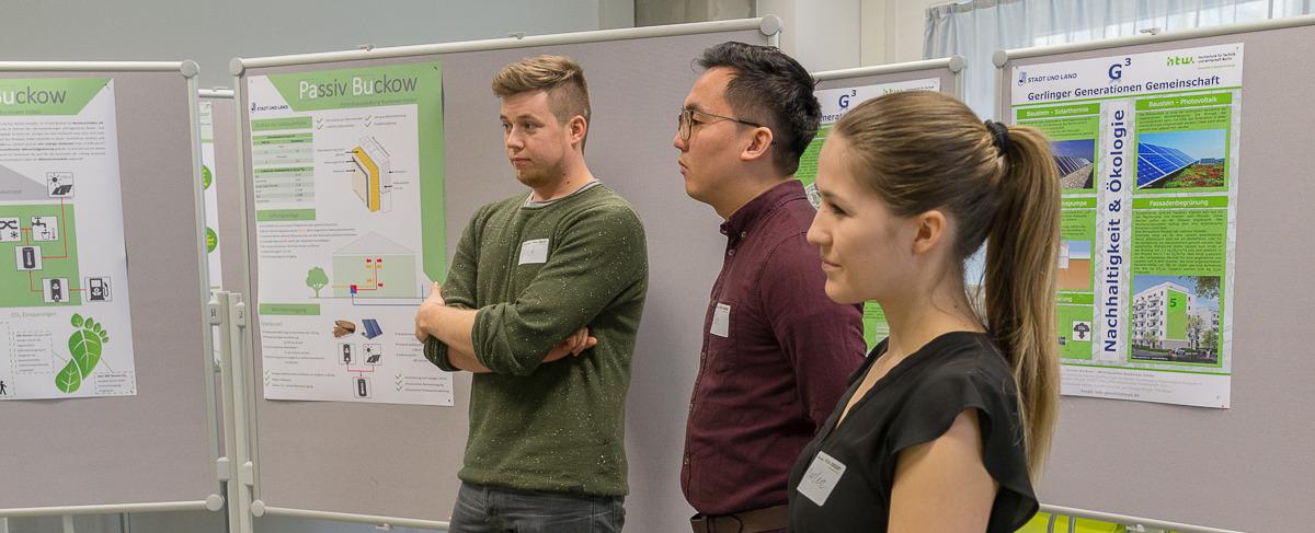 Studierende bei der Präsentation © HTW Berlin/Adina Herde