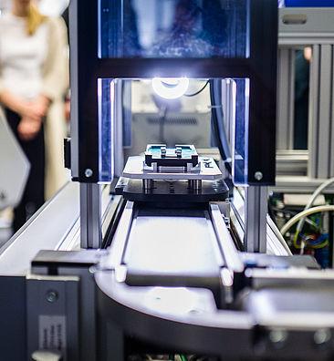Miniaturisierte Produktionsstrecke