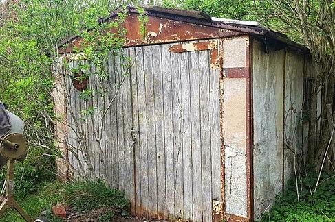 In dieser Garage in Schwedt stand die Schwalbe 26 Jahre lang