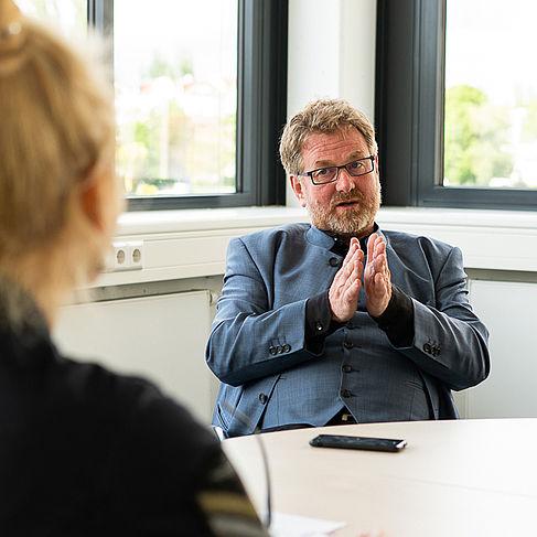 HTW-Präsident Carsten Busch © HTW Berlin/Miguel Hahn