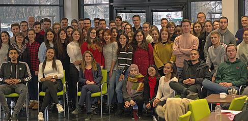 Die Teilnehmende des internationalen Studierendentreffens von Projekt INTENSE an der HTW Berlin.