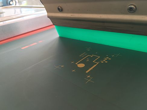 Druckprozess zur Erzeugung gedruckter leitfähiger Strukturen