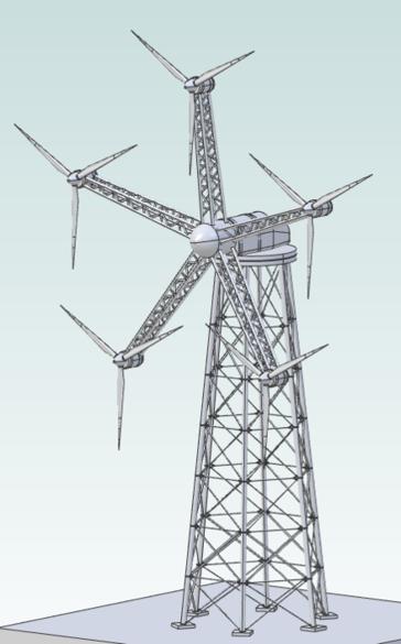 Skizze einer Windenergieanlage