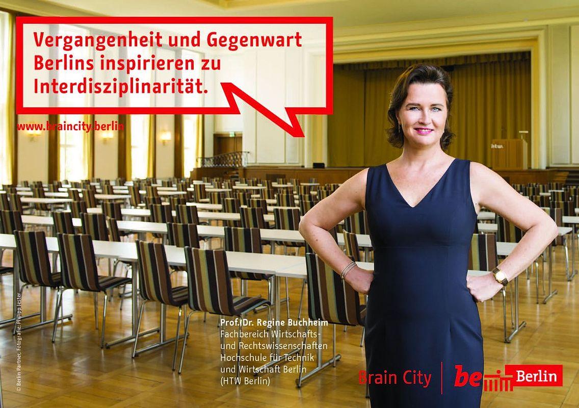 BrainCity-Plakat mit Regine Buchheim