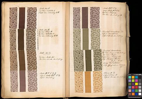 Stoffmuster_Seite-aus-einem-Farbrezeptbuch-mit-Kurrentschrift