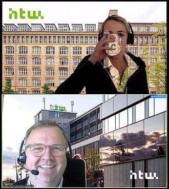Screenshot - Andrea Bookhagen und Holger Lütters bei der Online-Lehre