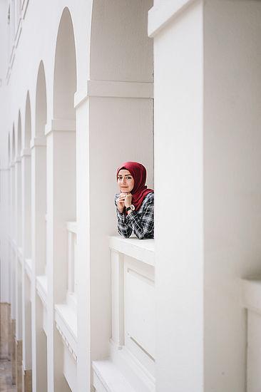 Hiba Karrum im Peter-Behrens-Haus