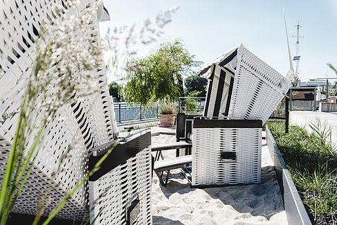 Strand auf dem Campus Wilhelminenhof