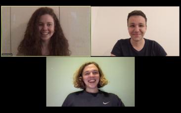 """Das HTW-Team hinter der App """"wesolate"""" in einer Videokonferenz"""