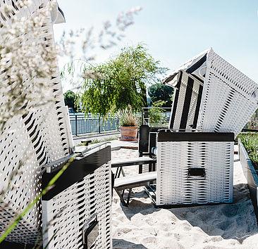 Die Strandkörbe auf dem Campus Wilhelminenhof