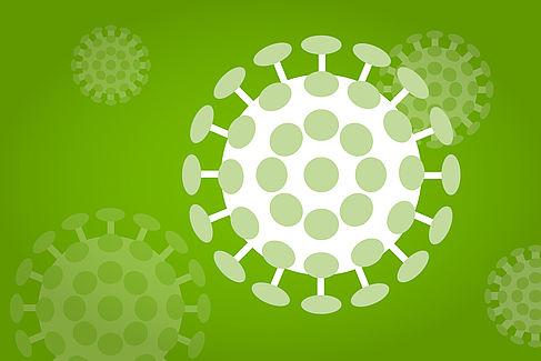 Illustration eines Coronavirus