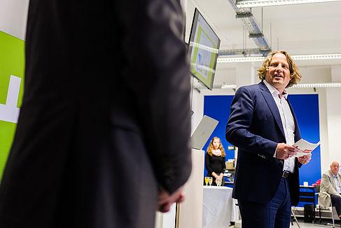 Staatssekretär Christian Rickerts bei der Eröffnung