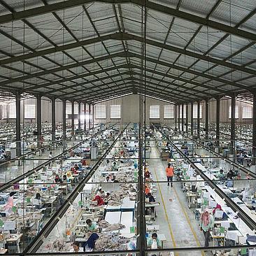 Textilfabrik in Asien