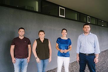 Vier Mitglieder des Projektteams EdgeCity