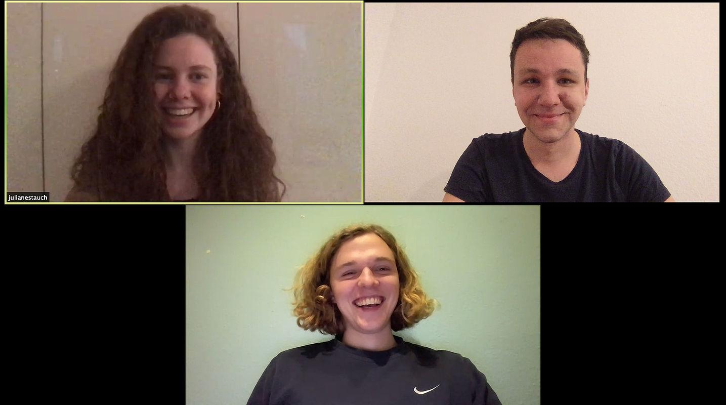 """Das HTW-Team hinter """"wesolate"""" in einer Videokonferenz"""