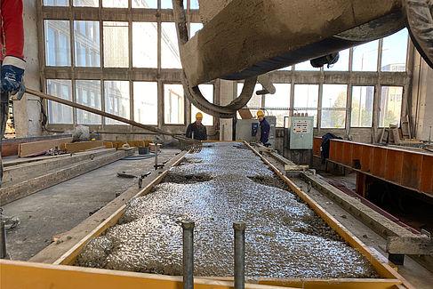 Gießen einer Betonplatte