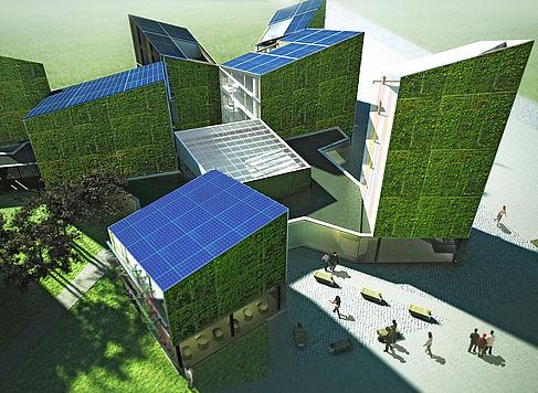 Darstellung der Smart-Home-Wohnungen, die in Berlin-Adlershof gebaut werden, zur Veranschaulichung