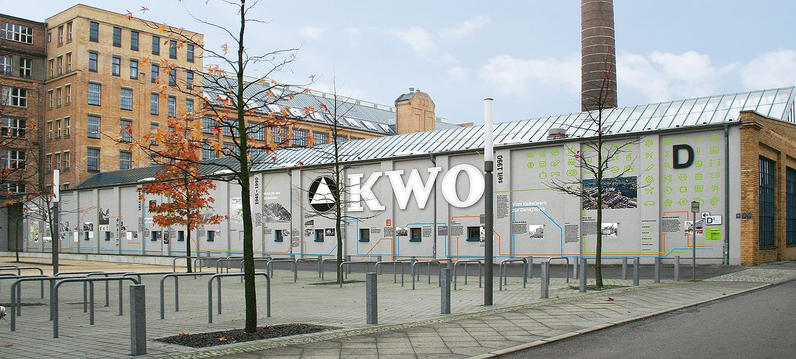 Montage der künftigen Fassade auf dem Campus Wilhelminenhof