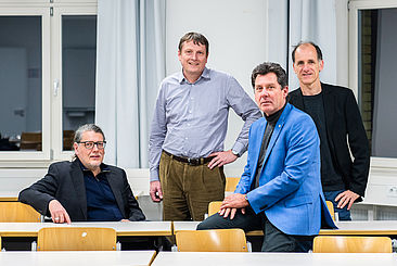 Horst Schulte, Norbert Klaes, Jochen Twele und Jens Fortmann