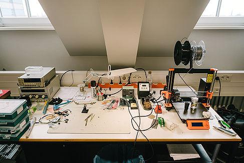 3D-Drucker im Labor des Projekts