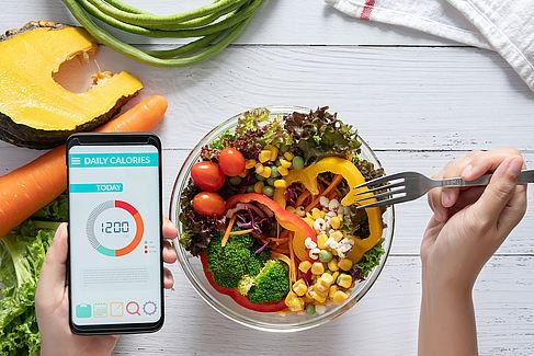 Digitaler Kalorienzähler