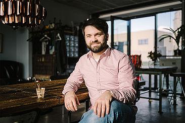 Leonhard Gebhardt im Kranhauscafé