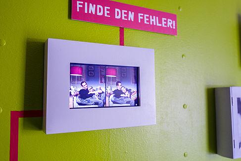 Finde den Fehler: Beispiel für eine Ausstellung zum Thema